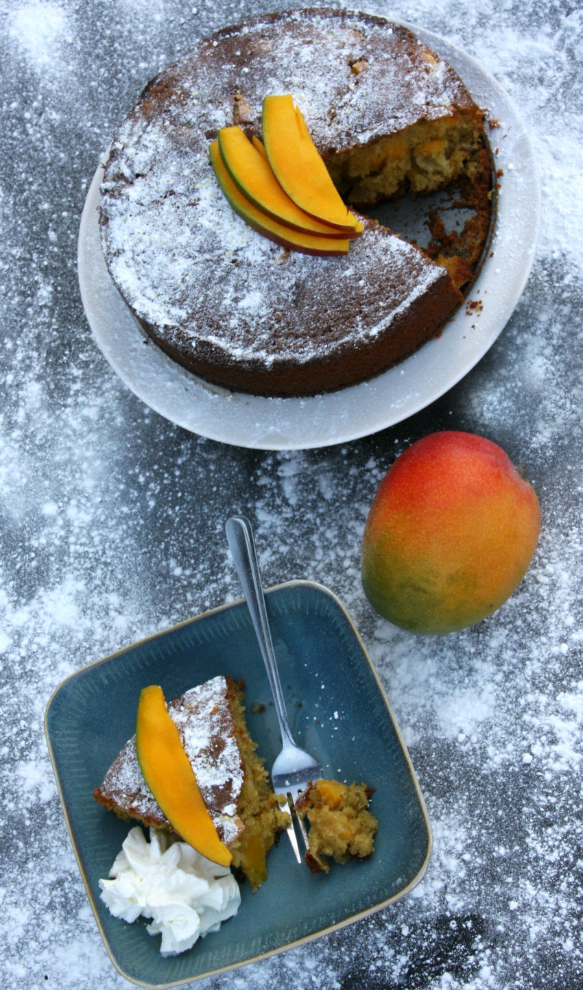 Mango Polenta Cake - When Italy meets the Caribbean