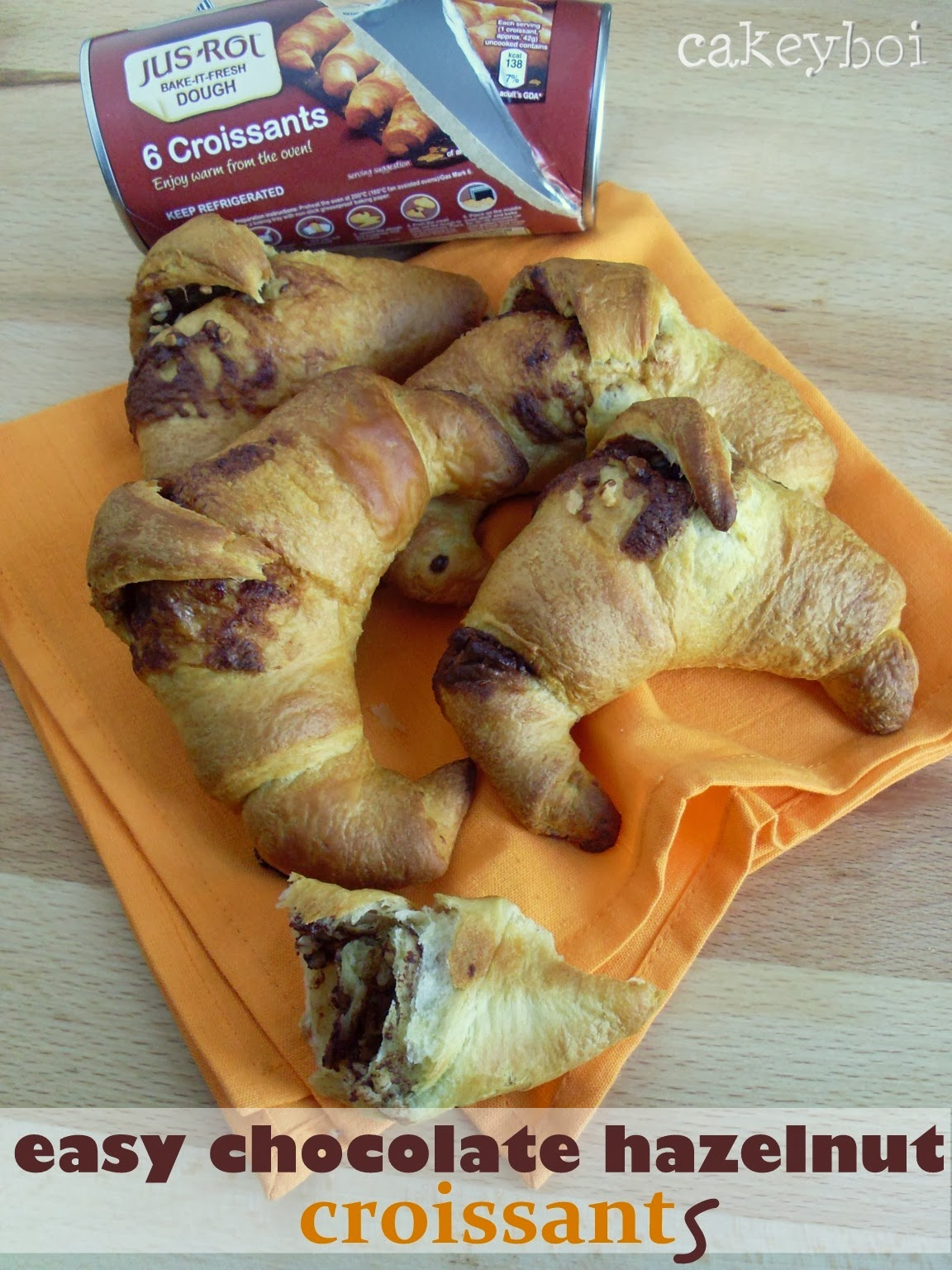 Easy Chocolate Hazelnut Croissants