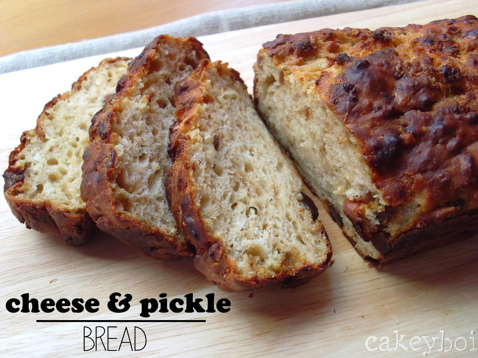 Cheese and Pickle Bread