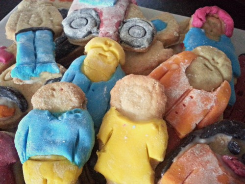 Delicious iced shortbread biscuits