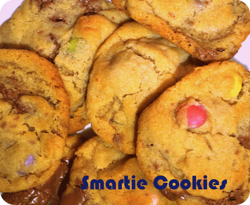 Easy Smartie Cookies - Cheetahs In My Shoes