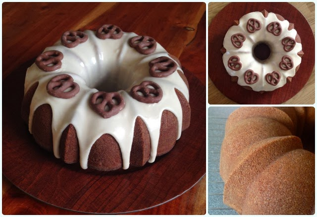 Peanut Butter and Jelly Bundt Cake - Super Bowl Style