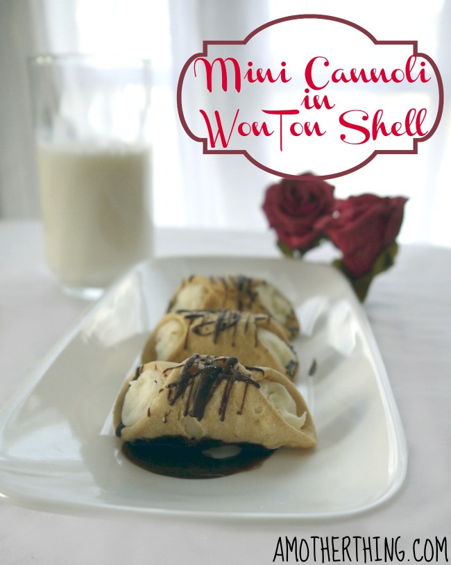 Mini Cannoli in WonTon Shells - A Mother Thing