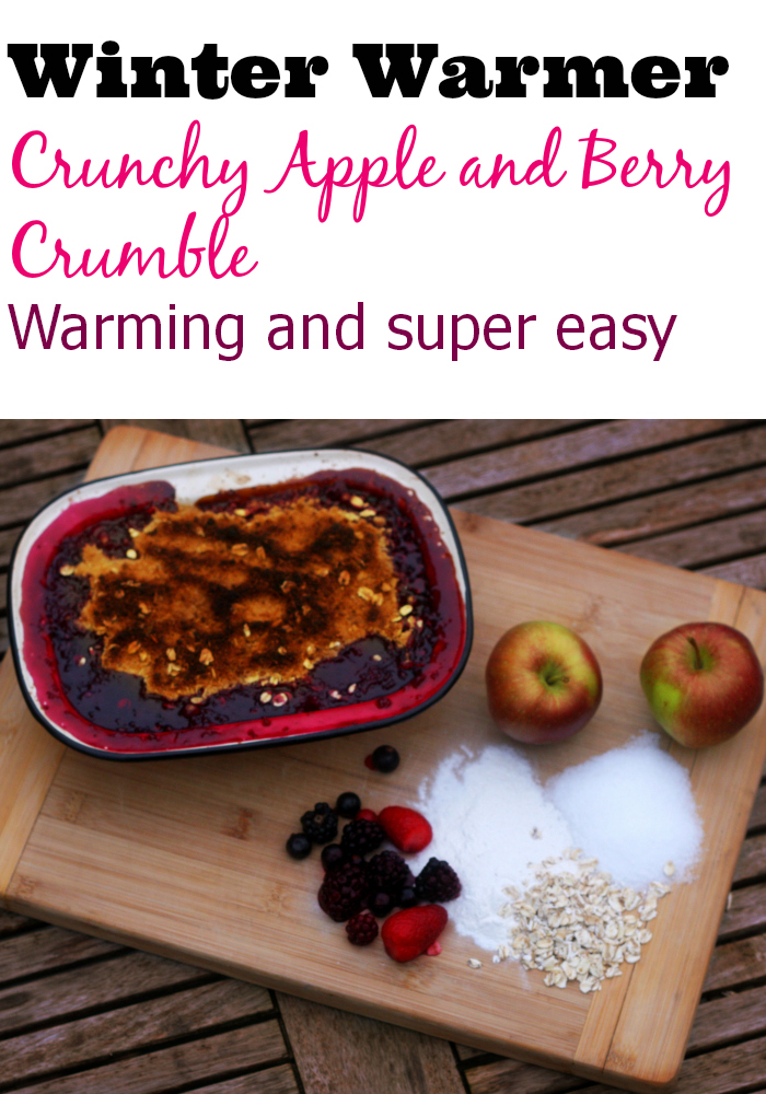 Winter warmer: Crunchy apple and berry crumble