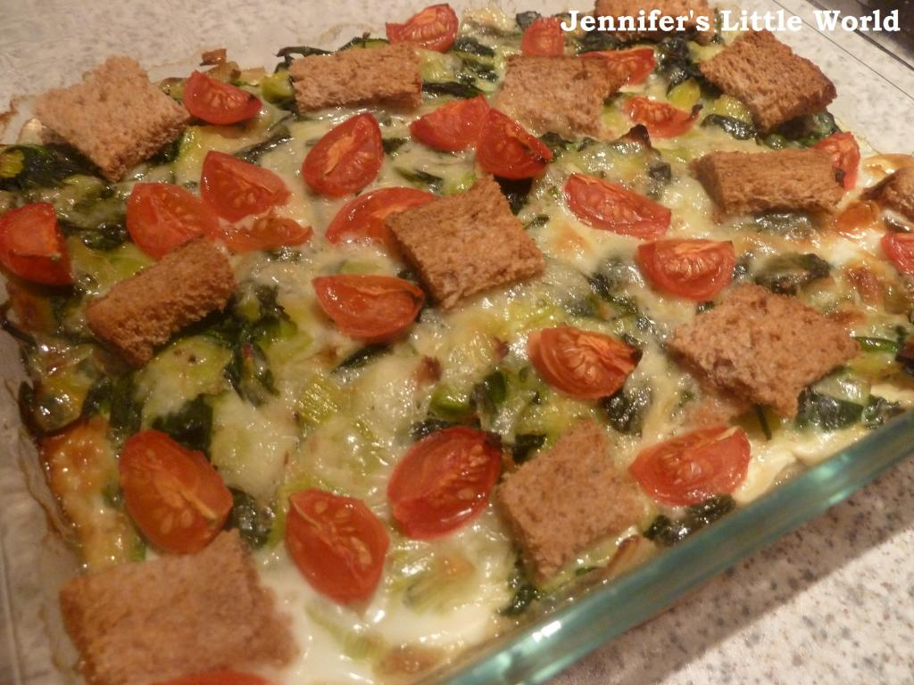 Cheese and Spinach Bread Bake