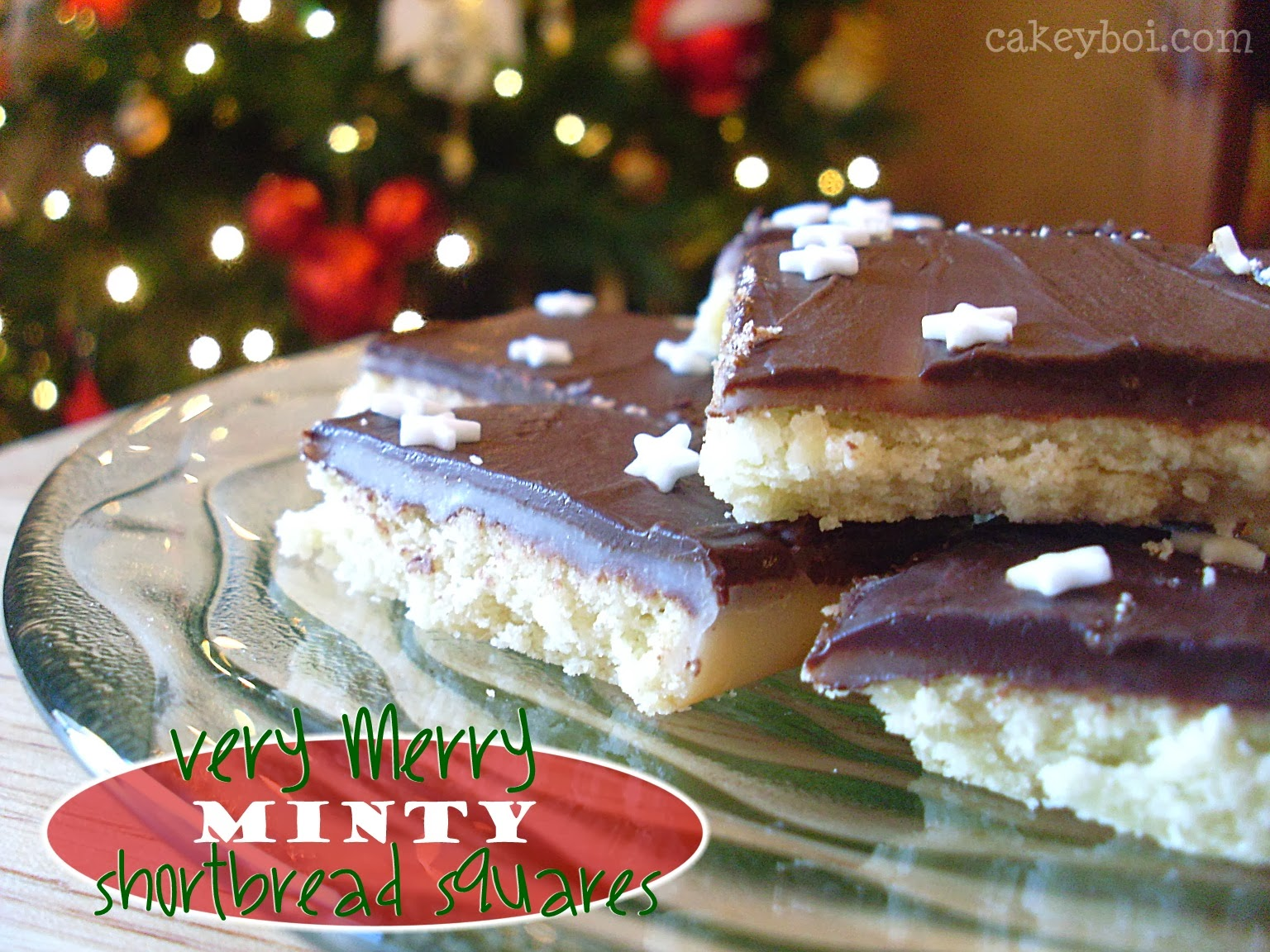 Very Merry Minty Shortbread Squares
