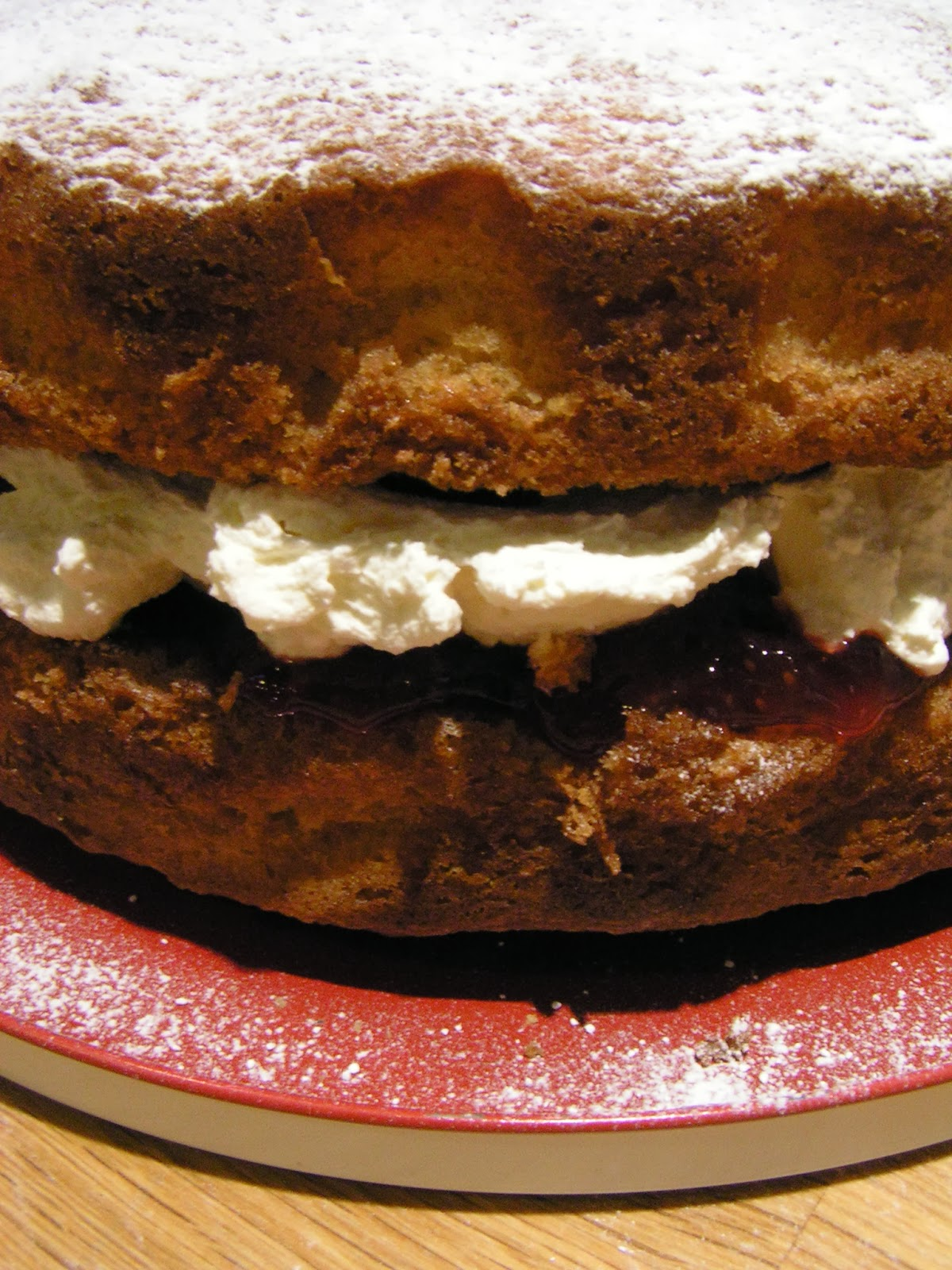 Classic Victoria Sandwich - the egg weighing way