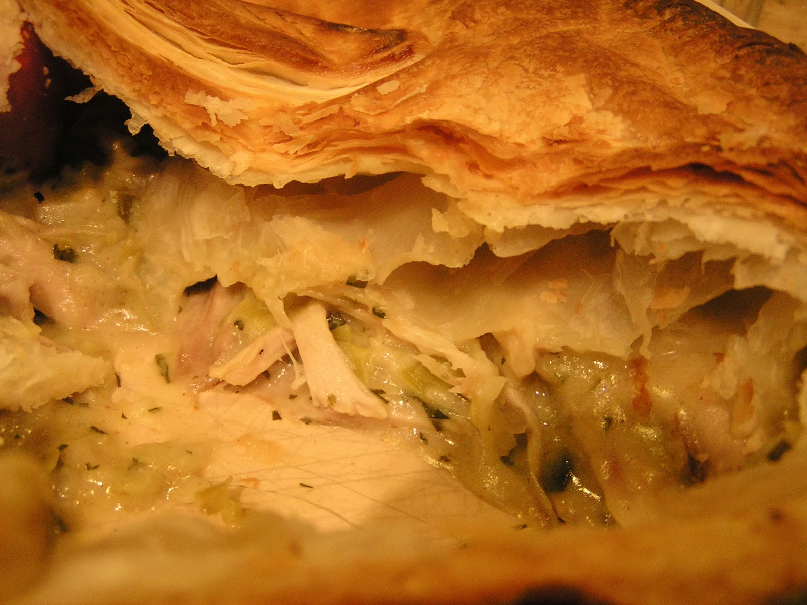 101 uses for a dead chicken - #1 Chicken, leek and parsley pie