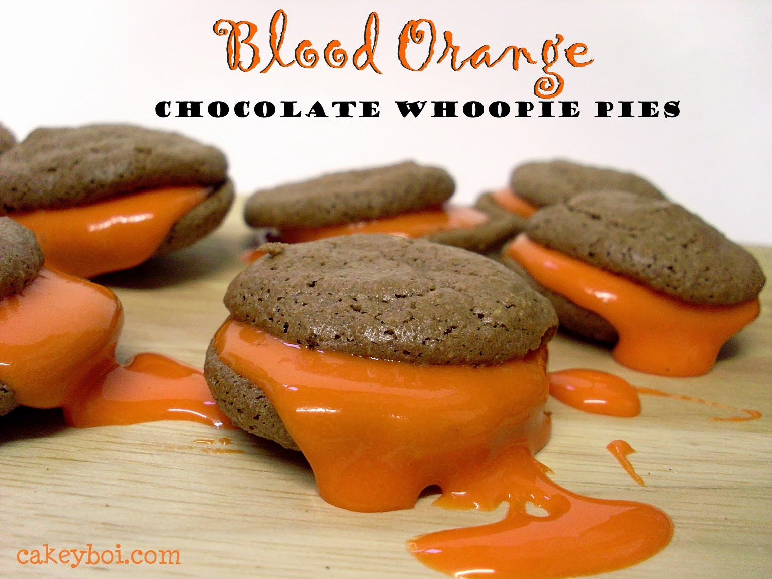 'Blood' Orange Chocolate Whoopie Pies (and BBC Good Food Show ticket winners!)