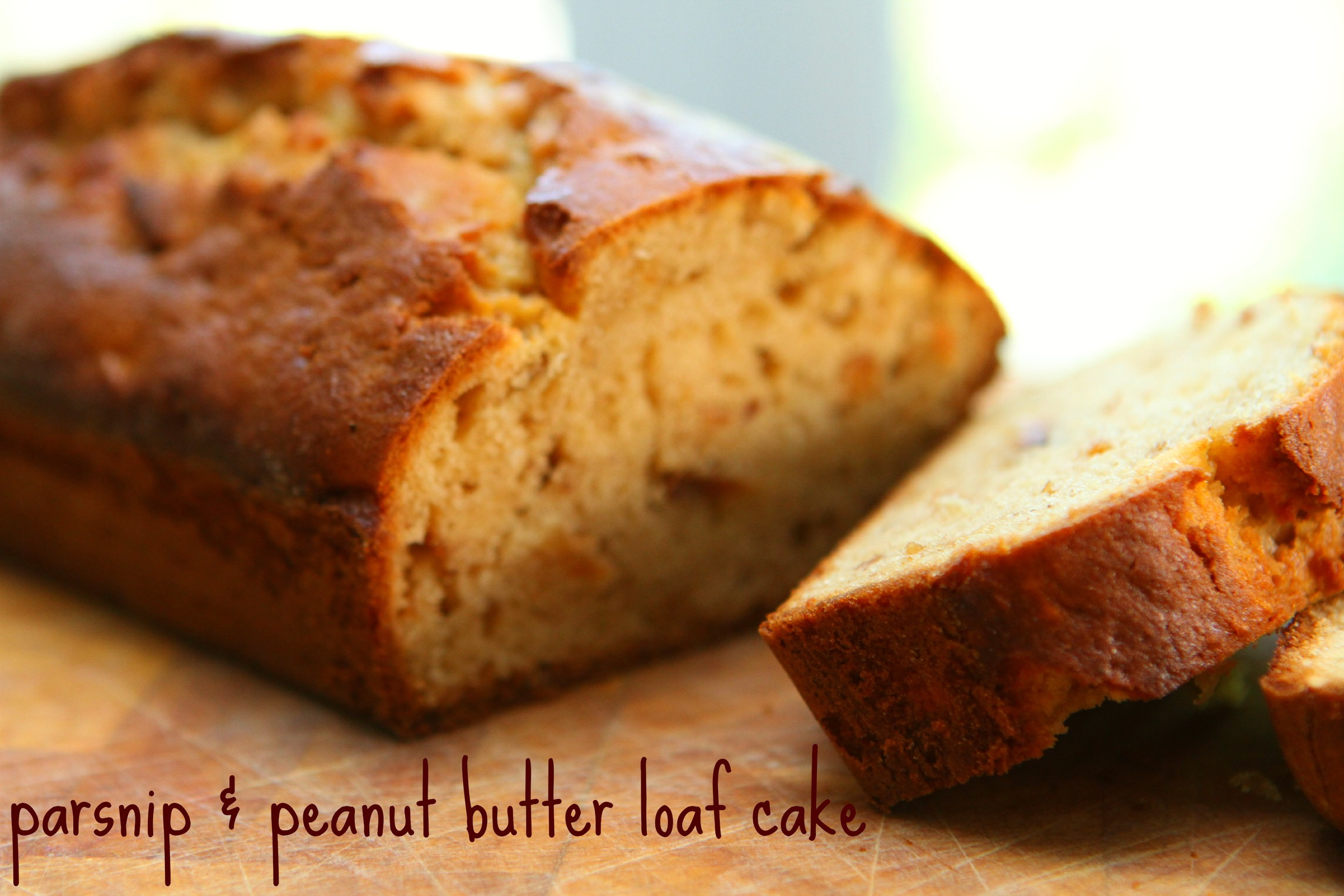 Parsnip & Peanut Butter Loaf Cake (Dairy Free)
