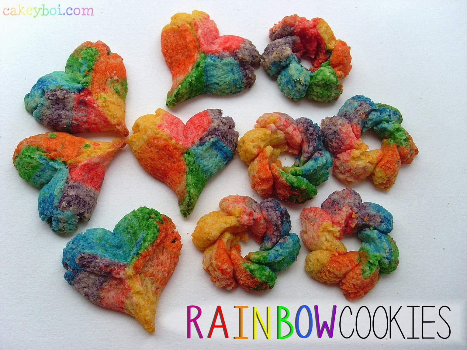 Rainbow Cookies with the new OXO Good Grips Cookie Press