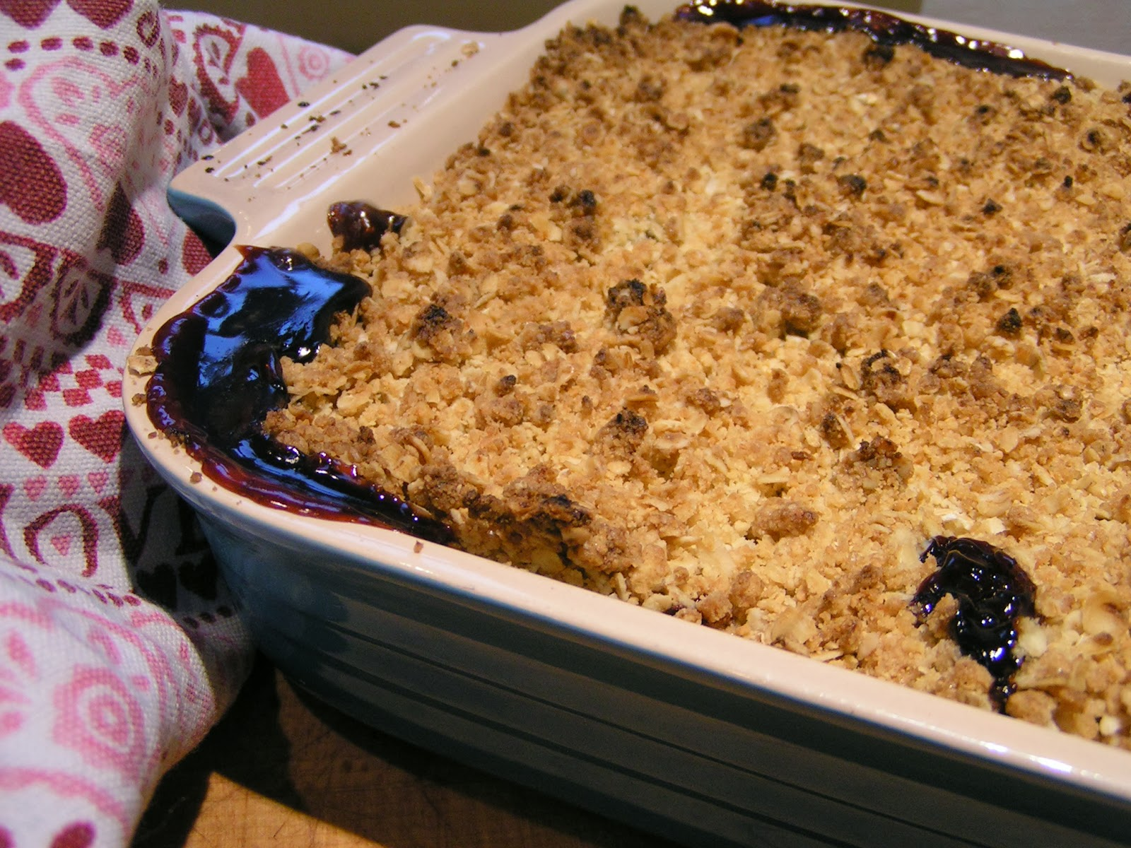 The 8th pint, a dead freezer, and cherry & almond crumble