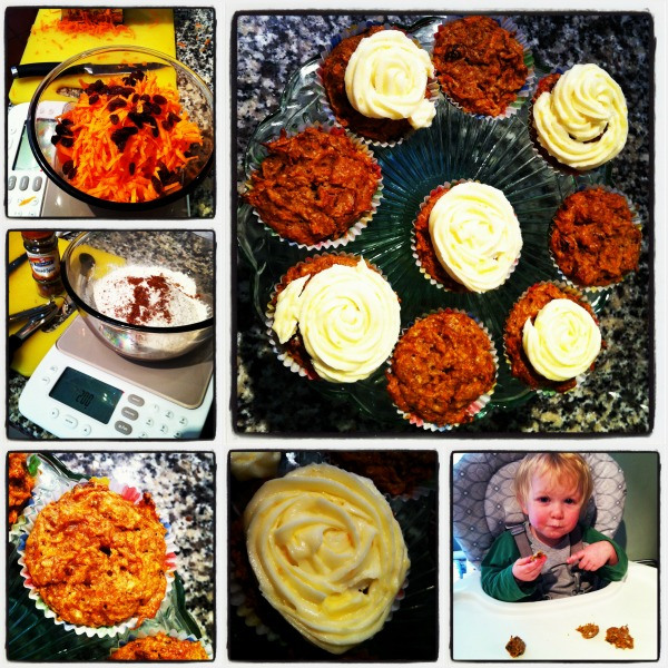Recipe for WeightWatchers Carrot and Walnut Cupcakes