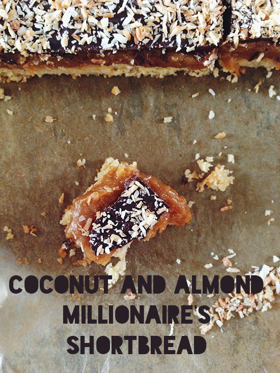 Great British Bake Off Challenge: Coconut and Almond Millionaire's Shortbread