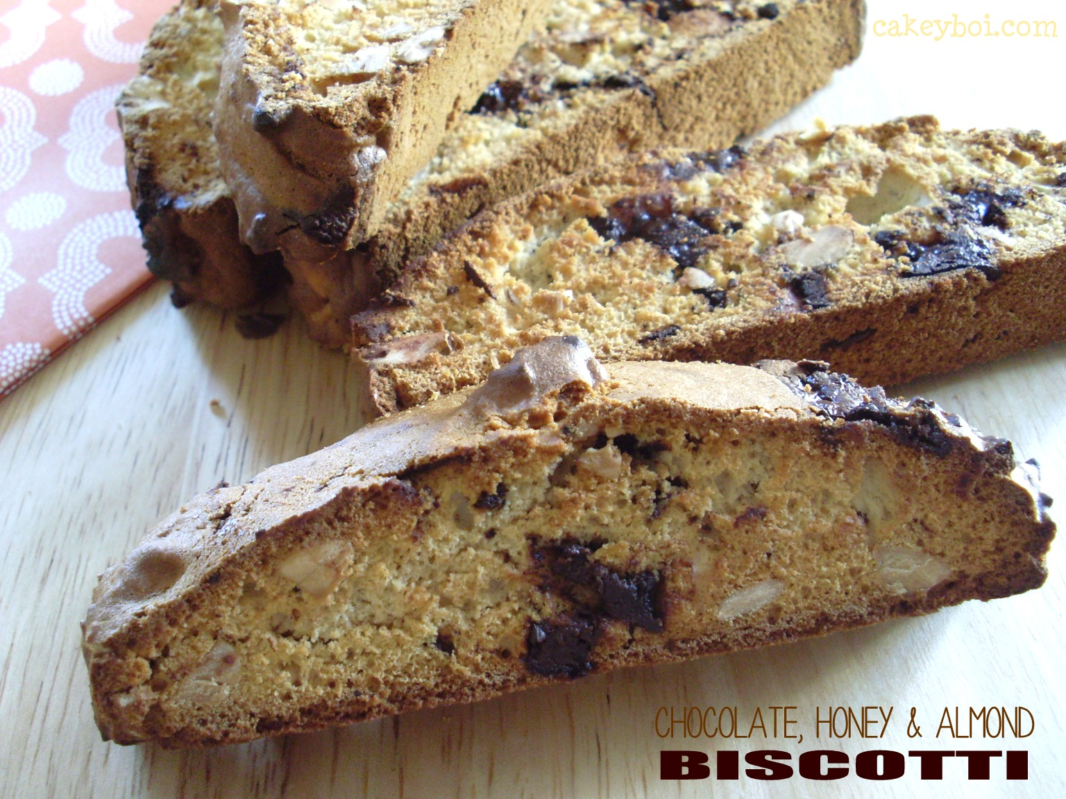 Chocolate, Honey and Almond Biscotti - for Organic September