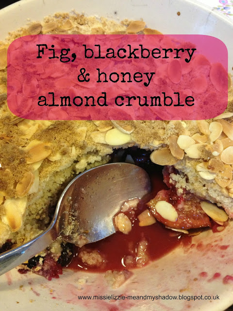 Fig and honey almond topped crumble