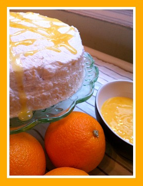St Clements Angel Food Cake with Orange Curd #GreatBloggersBakeOff