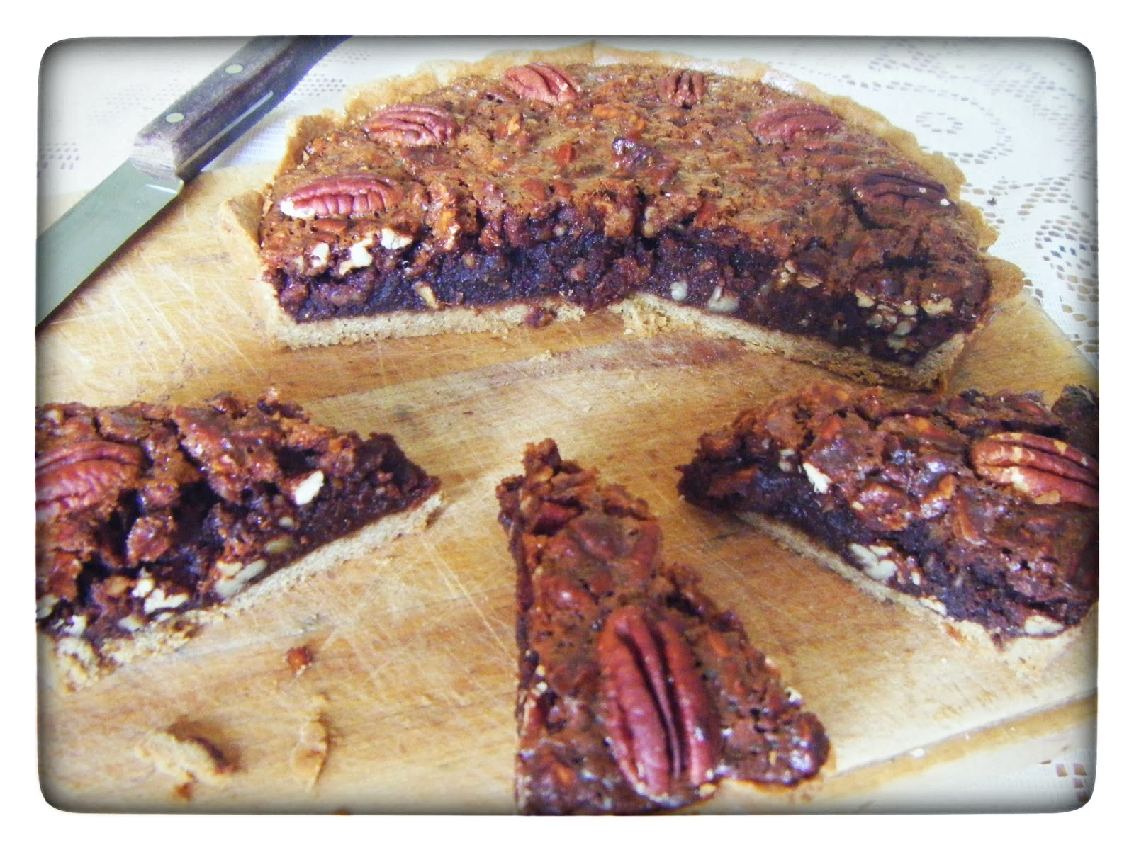 Chocolate and Ginger Pecan Pie