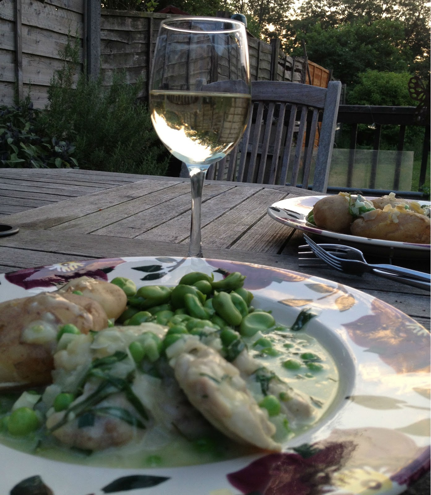 Tarragon chicken and a hankering for France