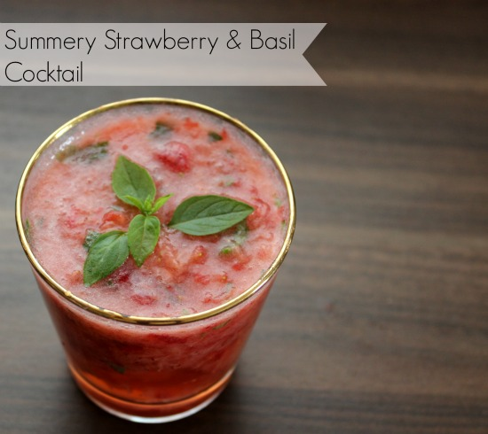 Summery Strawberry and Basil Cocktail