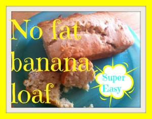 Love your Leftovers: No Fat Banana Loaf