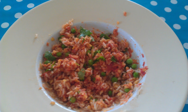 Coconut and coriander lentils with brown rice ~ Eco Thrifty Living