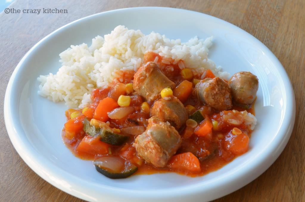 Slow Cooker Sweet & Sour Sausages