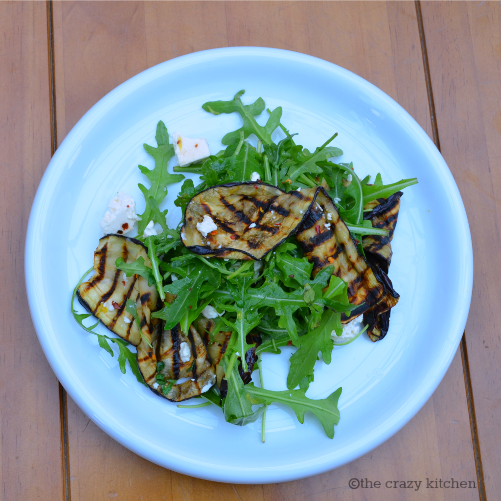 Aubergine and Rocket Salad [5:2 diet recipe}
