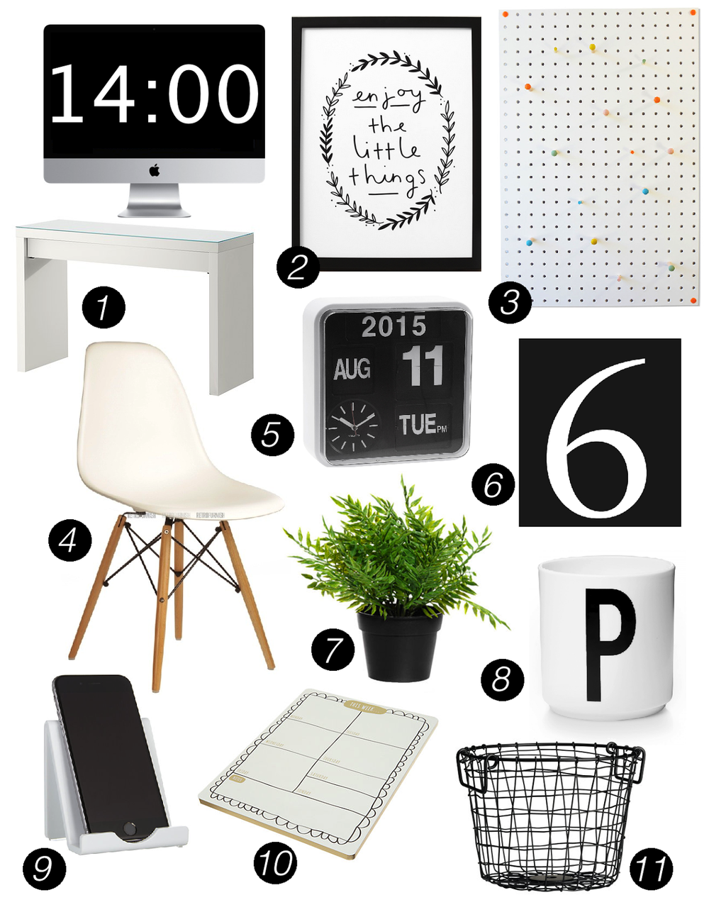 MONOCHROME HOME OFFICE INSPIRATION