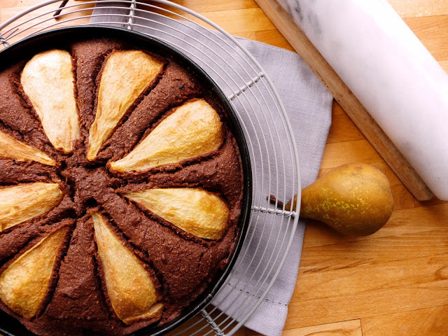 Chocolate and Pear Torte