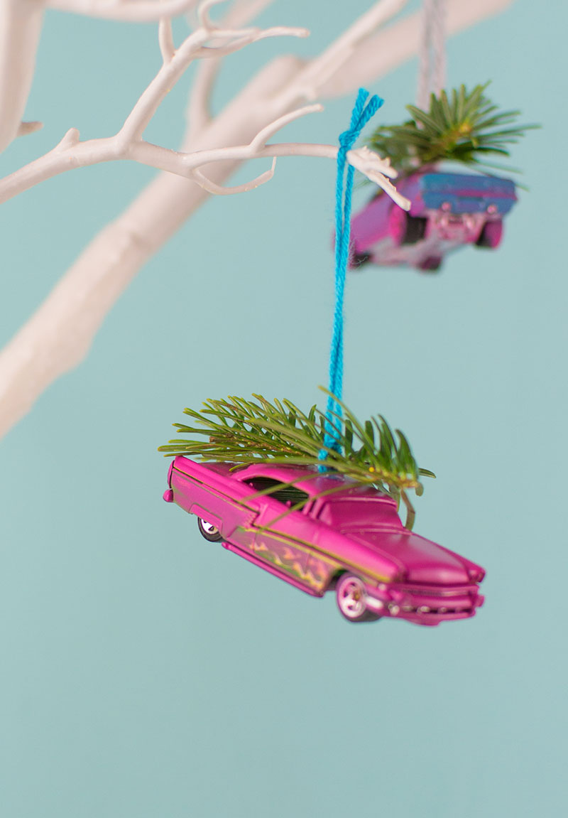 Upcycled Toy Car Christmas Ornaments