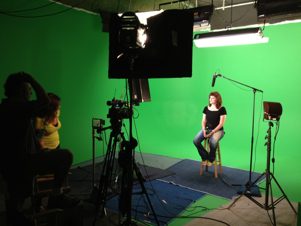 "Karen on the set of ""Ask Dr. Karen"""