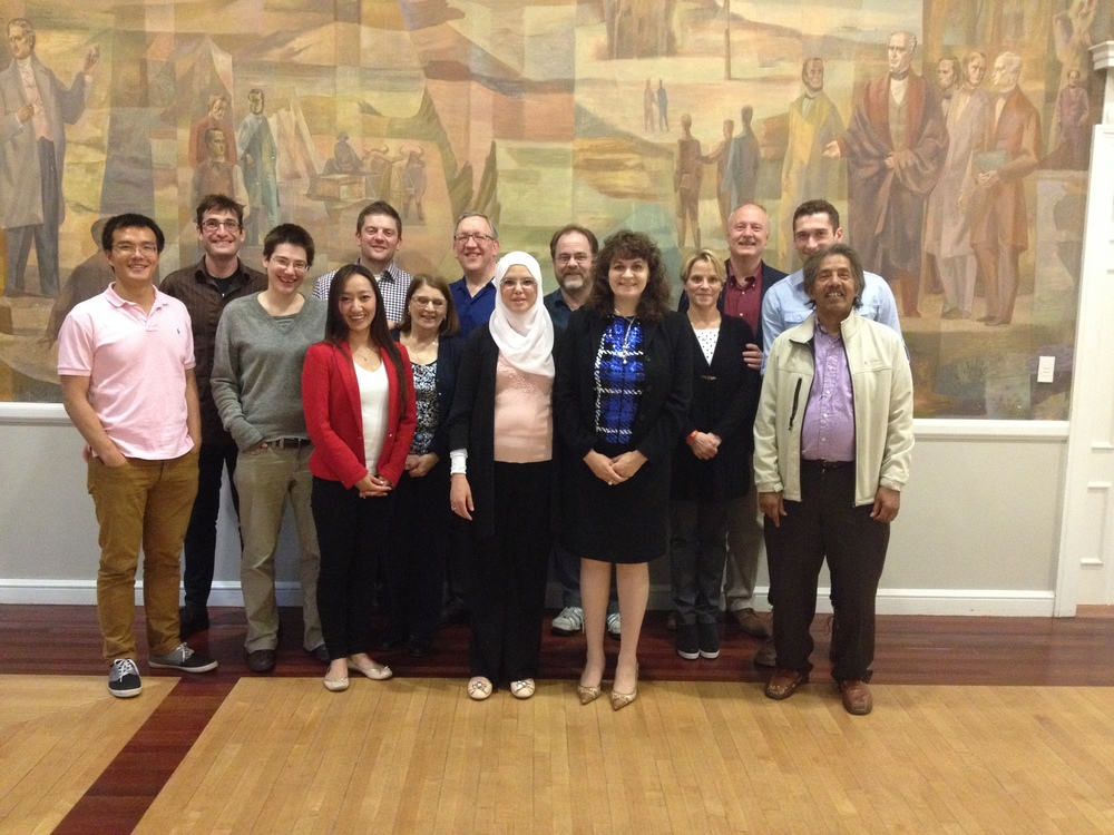 Karen with students and their families at a Tufts University School of Engineering Graduate Certificate Program dinner