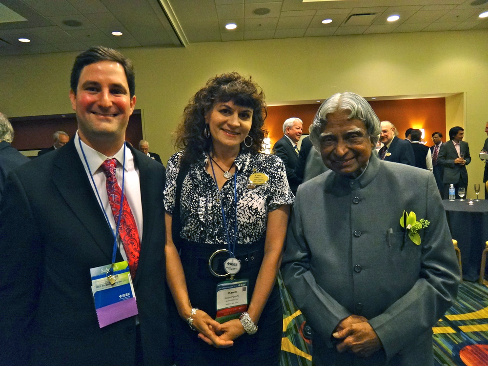 Karen with A.P.J. Abdul Kalam, past president of India