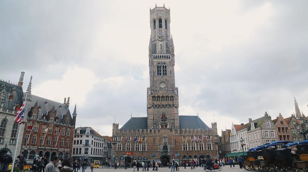 bruges belfry tower markt square
