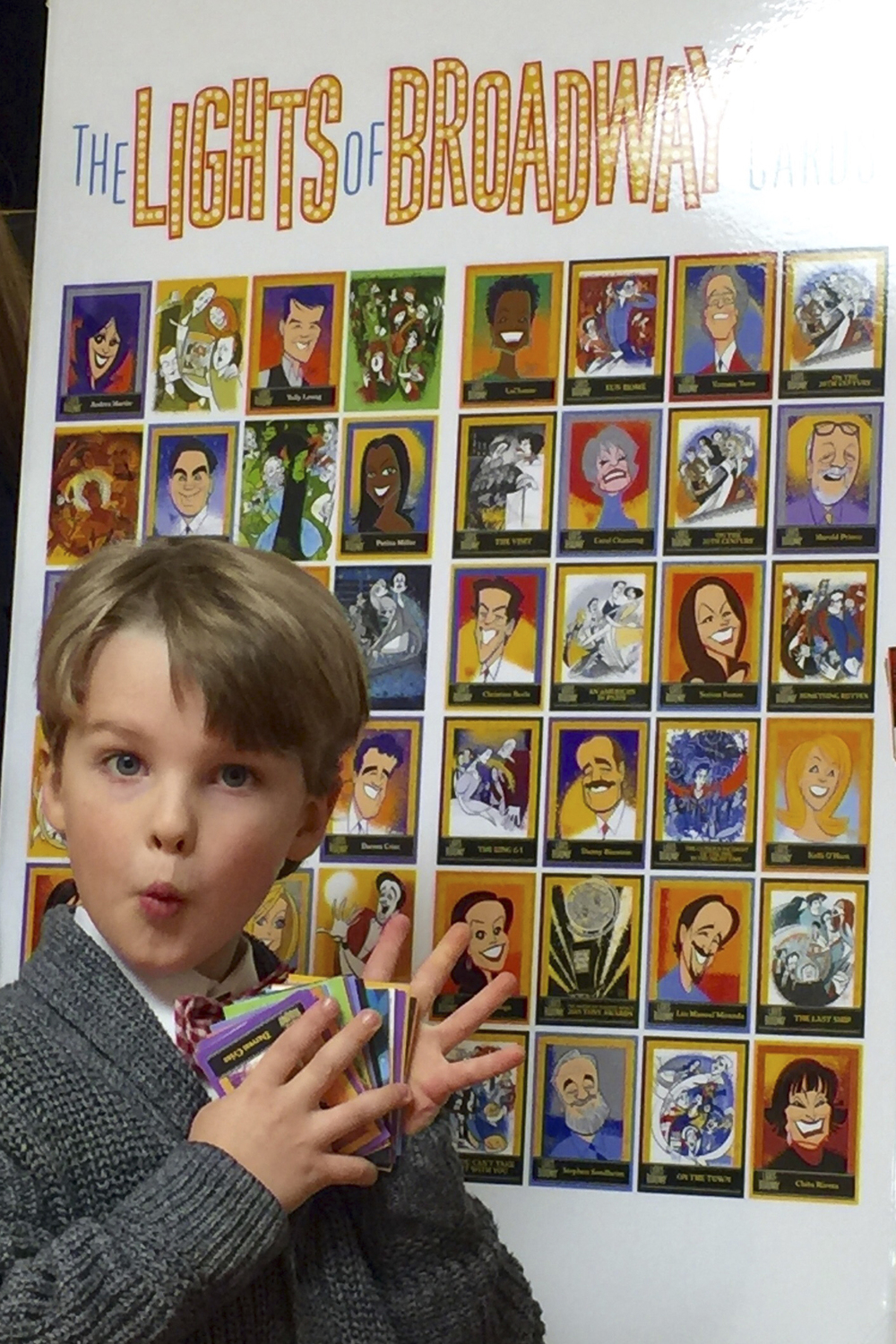 Iain Loves Theatre and The Lights of Broadway Show Cards™. Photo credit: Dori Berinstein.