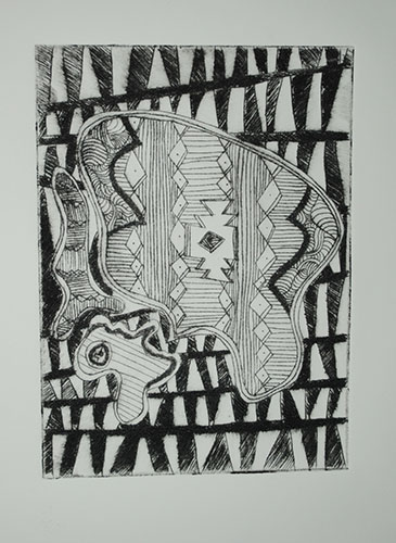 Ben Bennett  Speak Easy, Memory , 2013 intaglio 7 x 5 inches