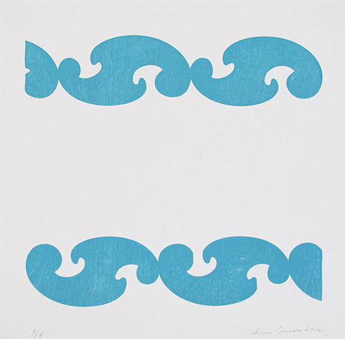 Ann Conner  Bel-Air 2 , 2012 woodcut 12 x 12 inches