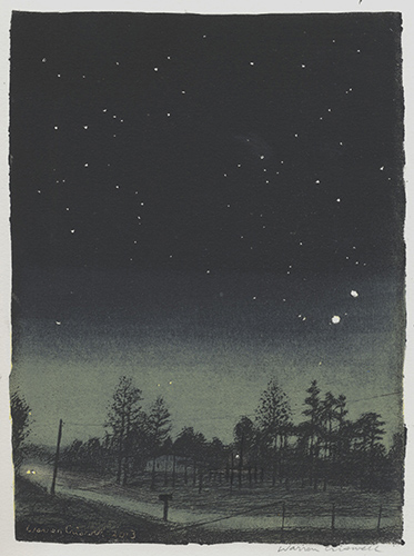 Warren Criswell  Conjunction , 2013 linocut 10 x 7 inches