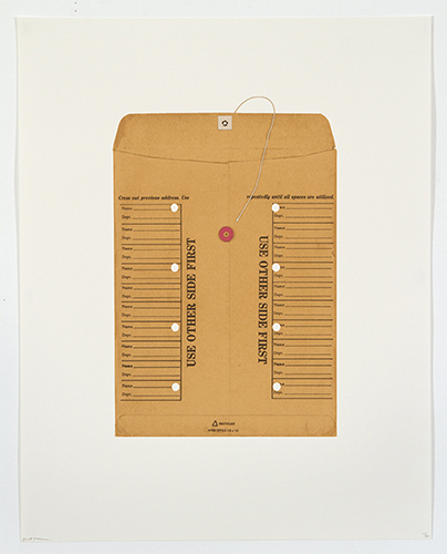 Brett Groves  Interoffice , 2012 9 color screenprint 23.5 x 18.5 inches