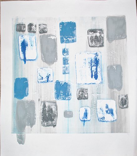 Danielle Gurgiolo  The Blue Ones,  2013 screenprint 25.75 x 22.75 inches
