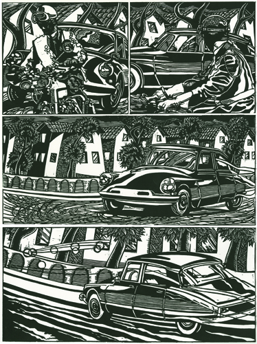 Geo Sipp  Citroen , 2012 woodcut relief 18.5 x 13.5 inches