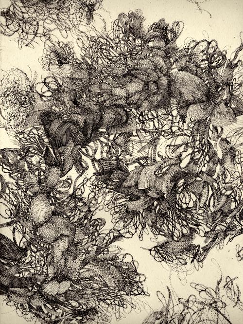 Karla Hackenmiller  Liminal Twist , 2010 Etching 12 x 9 inches