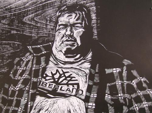 Brian Kreydatus  Nelson , 2011 Woodcut 22 x 30 inches
