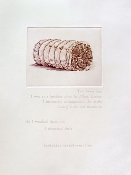 Ashton Ludden  Sarah , 2011 Engraving and letterpress 11 x 14 inches