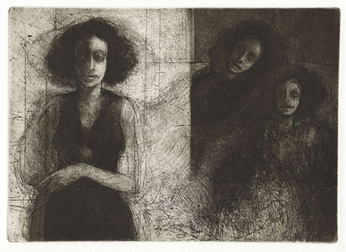 Bruce Muirhead  Secret Viewers , 2010 Intaglio 18 x 22 inches
