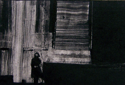 Anna Marie Ottaviano  Grand Central , 2011 Monotype 1.75 x 2.75 inches