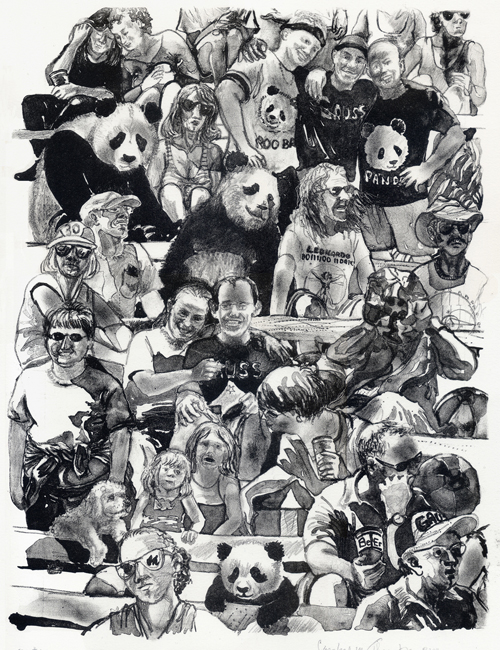 Caroline Thorington  Fans # 6 , 2011 Lithograph 15 x 11 inches