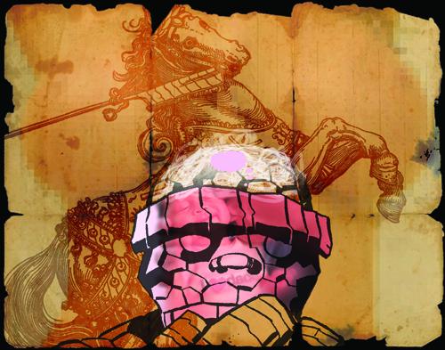 Brian Johnson  ...a false dichotomy... , 2010 Digital print and screen print 11 x 14 inches