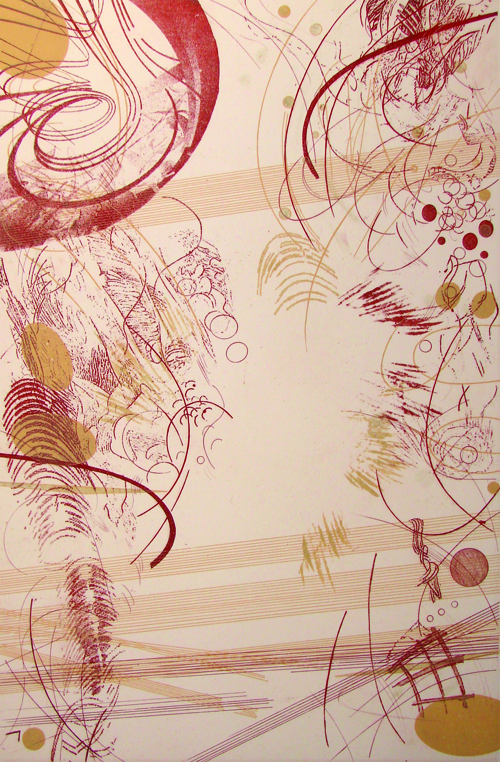 Rosalyn Richards  Vortex , 2009 Etching 18 x 12 inches